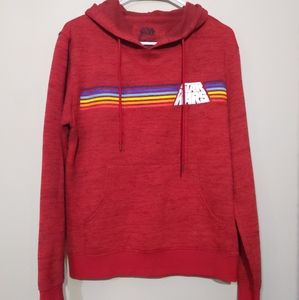 Star Wars Red Heathered Rainbow Hoodie Size Small